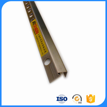 Custom excellent SS304 triangle anti-slip metal stair nosing strip