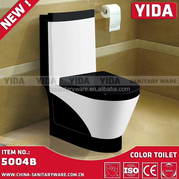 Green And White Color Bathroom Toilet Washdown One Piece