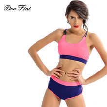 Sexy Women Activewear Fitness Yoga Crop Top Yoga Shorts 2 Piece Workout Suit