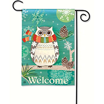 Wholesale high quality custom double side 12*18inch winter Christmas personalized garden flags