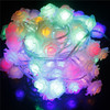 Hotest Solar Powered LED String Lights 5m 20 Romantic Rose Fairy Christmas Lights Lamp For Home Garden Decoration