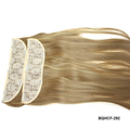 Wholesale Virgin cuticle Mongolian hair lace snap clips on weft extension