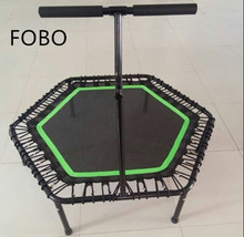 Adult fitness mini hexagon bungee trampoline with handlebar