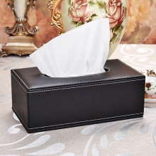 PU PVC Leather Tissue box Factory