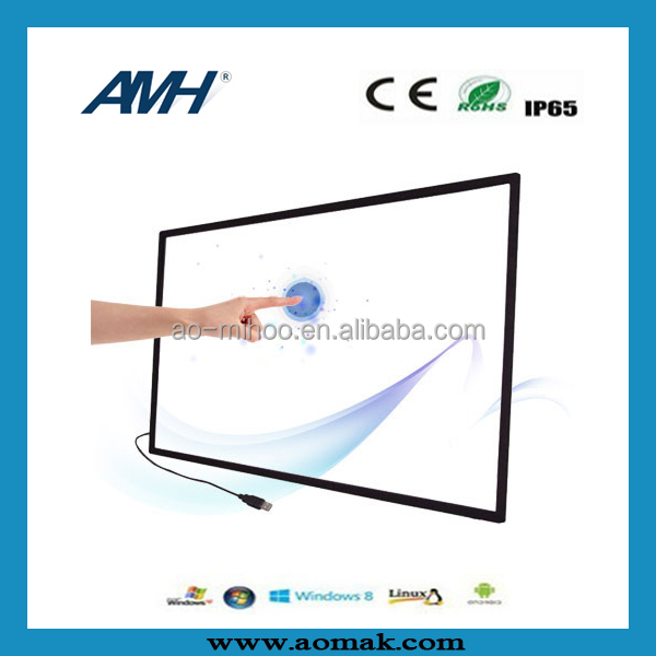 hot sell ! super slim USB IR touch screen frame / multitouch overlay 65 inch