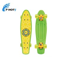Factory 22 inch PP plastic fish scale skate board skateboard