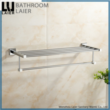 80220 chinese supplier modern kitchen bathroom accessories set new 2017 chrome finish zinc alloy bath accessories towel shelf