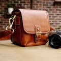 2015 fashion dslr leather camera bag