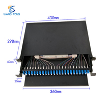 Wholesale chinese supplier 19 inch Rack Mount lc 24 core fiber optic patch panel