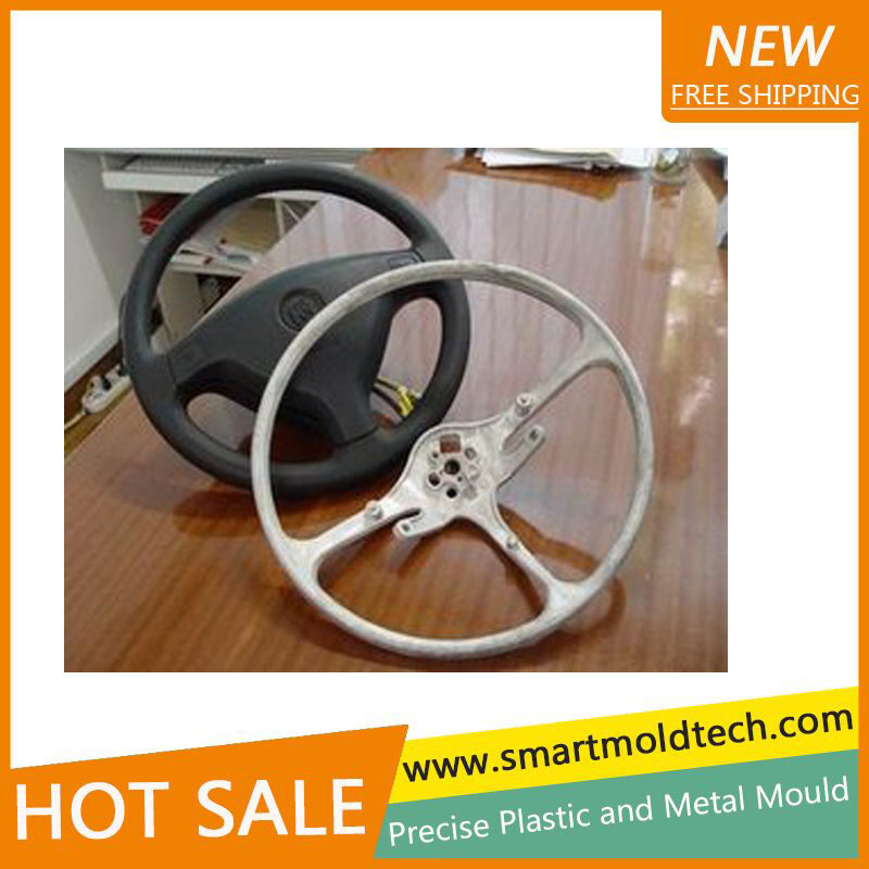 plastic <strong>mold</strong> making for customized car steering wheel plastic parts
