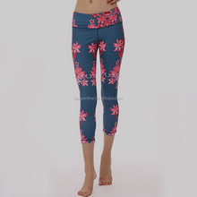 (Factory:ODM/OEM) polyester cotton spandex capri pants 001