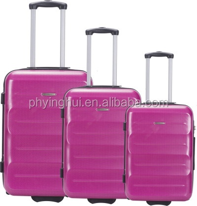 Diplomat travelling pu colourful assoda trolley&luggage bag