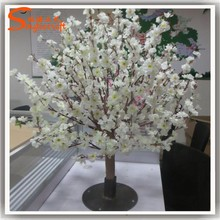 wholesale white artificial cherry blossom branch with plastic flower cherry blossom wedding decor