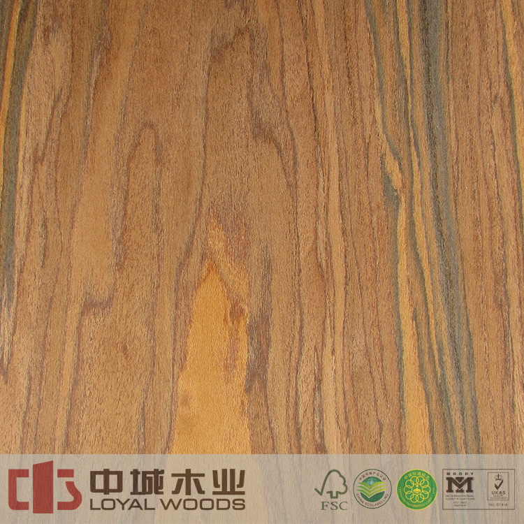 Wholesale natural color engineered african santos rosewood veneer with high quality