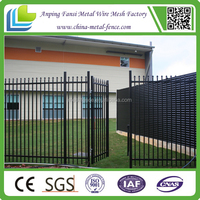 CE certificate US style home wrought iron fence shenzhen