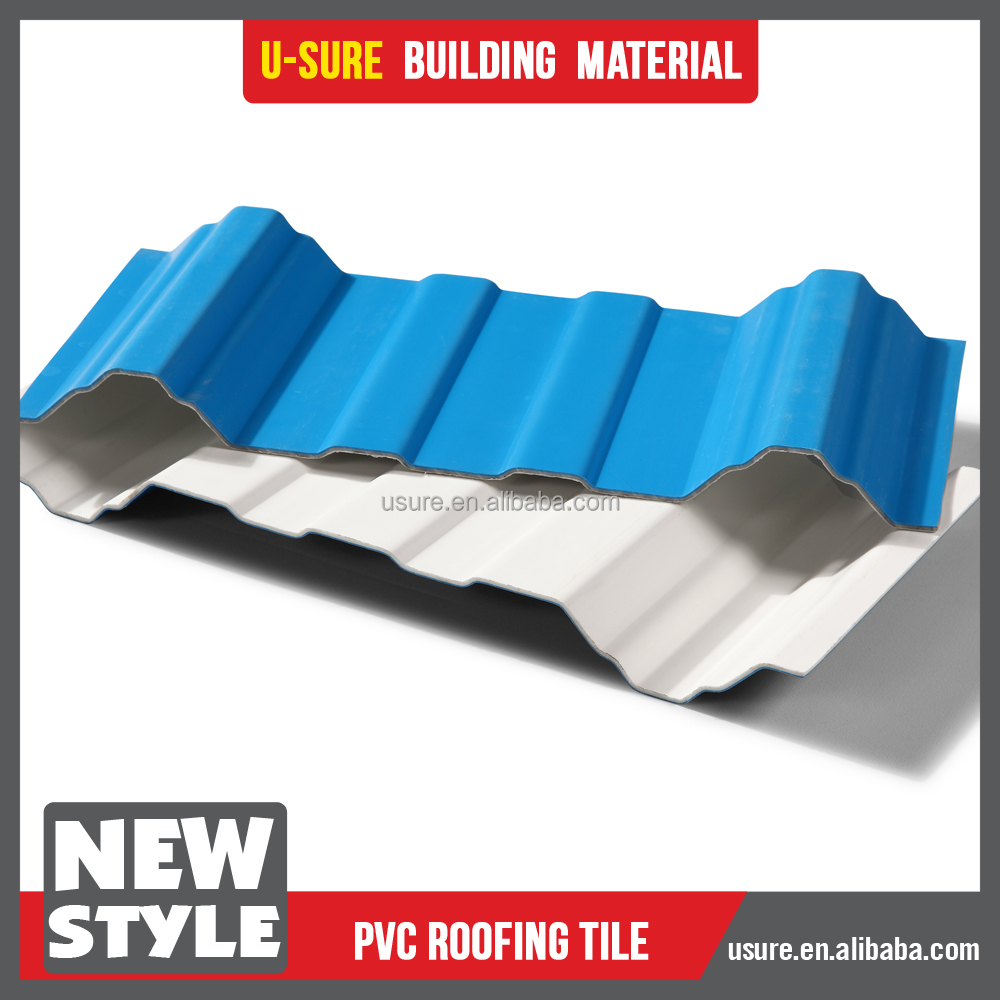 hard and thick rubber plastic pvc cover roofing sheet