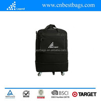 Audit supplier cheap trolley travel bag