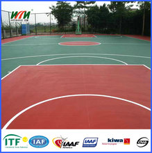 Resistant to aging outdoor basketball court with best price
