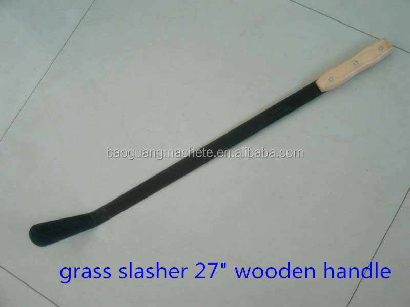 "Cheap Africa Wooden Handle Grass Cutting Slasher 29"" With Balde Thickness 2.0mm"