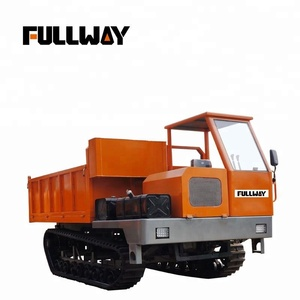Multi-function Mini Dump Truck With Track of 8 ton Loading Capacity