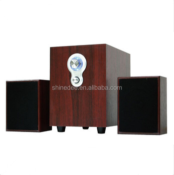 2017 Shinedee New Model Wooden Material 11W Hot Selling 2.1 Home Theater Speaker