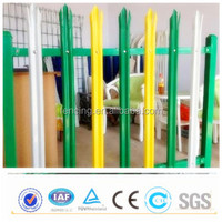Pvc coated stockade fence / D palisade fence,W palisade fence (factory price)