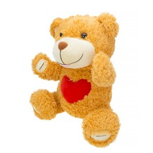20 pcs/lot hot sale 11cm mini plush bear toys with heart cheap wholesale sutffed bear plush toys
