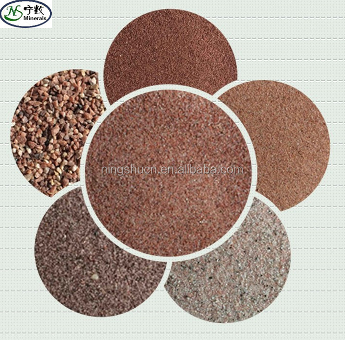 Manufacturer price building sand natural colored sand of China Red South Africa Red Coffee Red