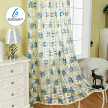 popular spain solid color tropical print design curtains for restaurant