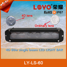 High qualitiy Emark 11inch 4D LENS led light bar 60W single row ip68 led light bar 4x4