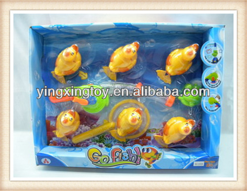 hot sell summer plastic kids magnetic duck fish game with light and music