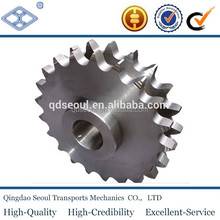 "ISO standard pitch 25.4mm 80B duplex roller chain 22T finished bore keyway hub 1"" driving sprocket"
