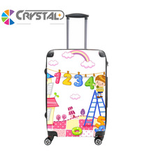 Customized Design ABS PC trolley hard shell case/ travel bag and luggage set/ standard size luggage