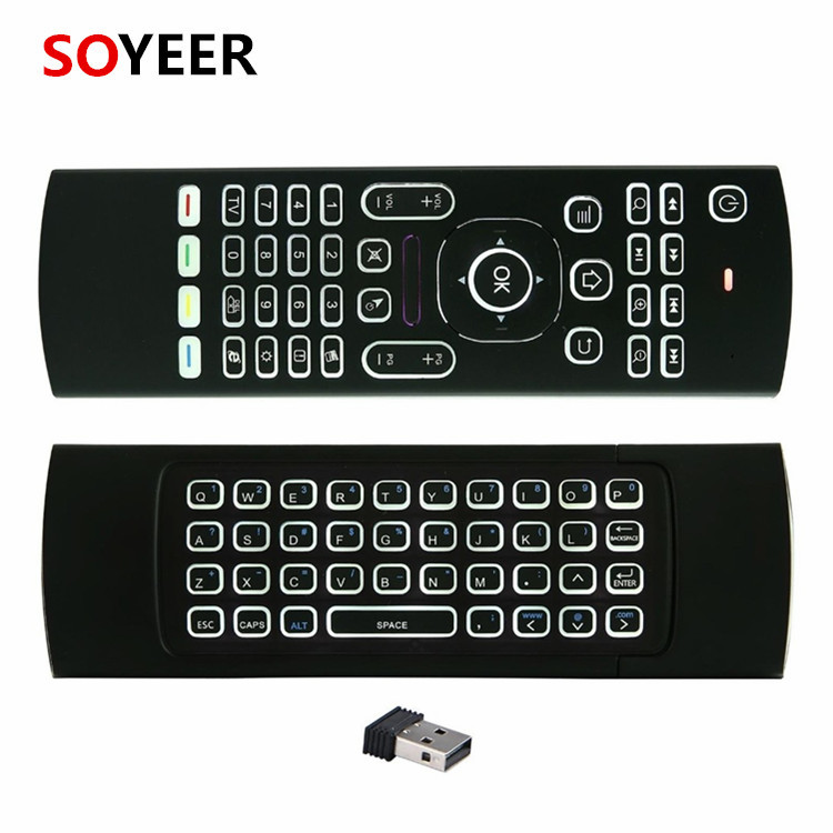 Soyeer 2.4G Mx3 Air Mouse Backlit Mx3 Remote For Android Tv Box