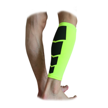 Cotton spandex compression soccer shin guards with ankle