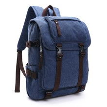 China Manufacturer OEM Free Custom LOGO Waxed Canvas Backpack