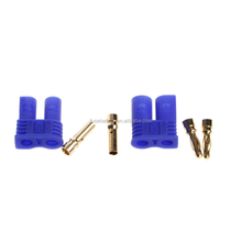 Male Female EC2 2.0mm RC Lipo Battery Connector Gold Bullet Plug