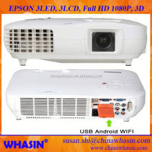 Optical Zoom FULL HD 3D 1080P 3*LED+3*LCD Laptop HDMI USB DVI RS232 vga TV Computer Multimedia Digital Projector