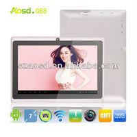 Promotional 7 inch Android Tablet Without Sim Card Atm7021 dual core Q88