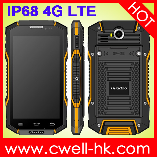 Unlocked Made in China 5.0 inch 2GB RAM 16GB ROM Android 5.1 Lollipop 4G LTE Huadoo HG06 Rugged IP68 Smartphone