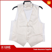 Men's Top Fashion Casual Solid Color V-Neck Vest With Tie
