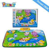 Wholesale Baby toy,Animal Sounds Play Mat Accept OEM CE EN71 62115 RHOS 6P AZO
