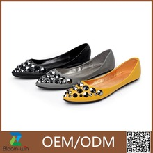 2016 high quality ladies rubber soles flat shoes GuangZhou made in China