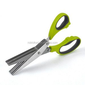 Multipurpose Stainless Steel Herb Scissors 5-Layers Kitchen Scissors