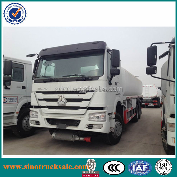 2015 Sinotruk 6x4 oil tank truck China howo 6x4 20000L fuel tank truck petroleum oil tanker truck for sale