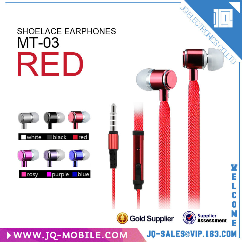 Metal and rubber design colorful 3.5 mm hands free fancy earphone with remote and mic