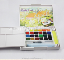 24 colors Talens Transparent solid watercolor paint set