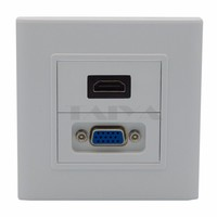 HDMI, VGA wall plate with backside female to female connection