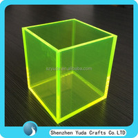 oem clear acrylic display box for sale,manufacturing cheap price colored package box acrylic box,square plastic display box