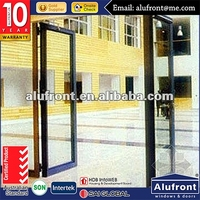 AS20462016 new desigh and colored aluminum double glass hinge doors with perfect sealing